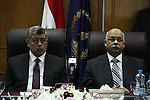 "Egyptian Interior Minister, Mohamed Ahmed Ibrahim, and Egyptian Minister of Health and Population Osama al- sagheer attend the opening ""Management Hospital Insurance"" in Cairo, on Feb.28, 2013. Photo by Tareq Gabas"