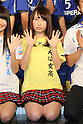 Reina Shimada (NMB48), .FEBRUARY 16, 2012 - Football / Soccer : Speranza FC Osaka Takatsuki Press conference at NMB48 Theater in Osaka, Japan. Japanese ladies soccer team Speranza FC Osaka Takatsuki hold a joint press conference with members of NMB48, the Osaka version of the popular AKB48 idol group. Both women's soccer and girls idol groups are hugely popular in Japan after the national team's success at the Womens Soccer World Cup and the growing success of AKB48.
