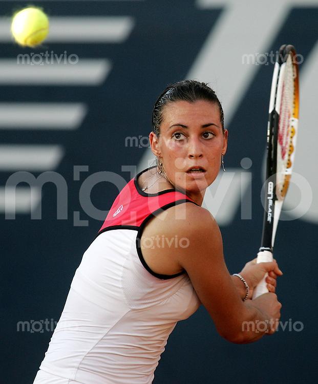Tennis Acapulco Abierto Mexicano Damen Einzel  Flavia Pennetta (ITA) spielt eine Rueckhand.