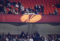 FUSSBALL   INTERNATIONAL   UEFA EUROPA LEAGUE   SAISON 2012/2013    Achtelfinale Hinspiel VfB Stuttgart - Lazio Rom      07.03.2013 Lazio Fans mussten in der 2. Halbzeit ihre Plakate und Banner im Gaestefanblock der Mercedes Benz Arena einrollen.