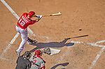 26 May 2013: Washington Nationals outfielder Tyler Moore in action against the Philadelphia Phillies at Nationals Park in Washington, DC. The Nationals defeated the Phillies 6-1, taking the rubber game of their 3-game weekend series. Mandatory Credit: Ed Wolfstein Photo *** RAW (NEF) Image File Available ***