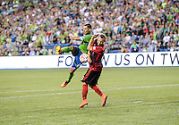 Seattle, Washington - July 13, 2014: The Seattle Sounders FC defeated the Portland Timbers 2-0 in Major League Soccer (MLS) action at CenturyLink Field.