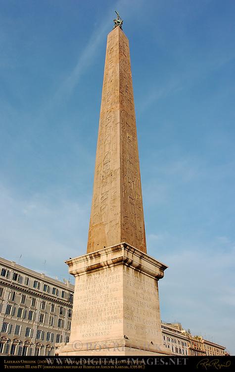 Lateran Obelisk Tuthmosis III 1430 BC Sunset Piazza di San Giovanni in Laterano Rome
