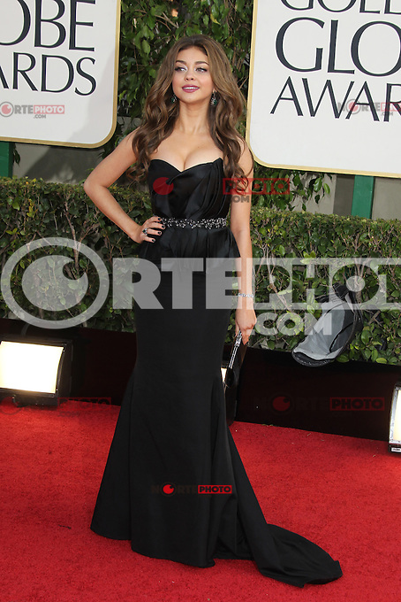 BEVERLY HILLS, CA - JANUARY 13: Sarah Hyland at the 70th Annual Golden Globe Awards at the Beverly Hills Hilton Hotel in Beverly Hills, California. January 13, 2013. Credit: mpi29/MediaPunch Inc. /NortePhoto
