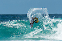 Snapper Rocks, Coolangatta Queensland Australia (Monday, March 14 2016): Adriano de Souza (BRA)  - Round Two of the first WCT event of the year, the Quiksilver Pro Gold Coast, was completed this morning followed by Round Three and two heats of Round Four.  The upsets continued with the Tour Rookies taking out out a good proportion of the heats with Stu Kennedy(AUS) again showing great form by defeating Gabriel Medina (BRA). The event was put on hold for over 2 hours while organisers waited for the tide to drop. The surf was in the 4'-5' range most of the day.Photo: joliphotos.com