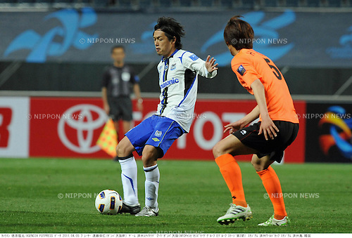 Yasuhito Endo (Gamba), APRIL 5, 2011 - Football : AFC Champions League Group E match between Jeju United FC 2-1 Gamba Osaka at Jeju World Cup Stadium in Jeju island, South Korea. (Photo by Takamoto Tokuhara/AFLO).