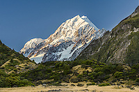 Aoraki / Mt Cook, Canterbury, New Zealand - stock photo, canvas, fine art print