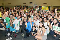 MIAMI, FL - SEPTEMBER 30: U.S. Presidential Green Party candidate Jill Stein pose for a group selfie after Speaking at Miami Dade College Wolfson Chapman Hall on Friday September 30, 2016 in Miami, Florida  Credit: MPI10 / MediaPunch