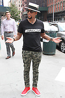 NEW YORK, NY - JULY 15: Comedian and media personality D.L. Hughley spotted in Tribeca wearing a '#ITSTOOMUCH' t-shirt following his Wednesday night appearance as guest on the FOX News show 'The Kelly Report' where he clashed with host Megyn Kelly on police brutality in New York, New York on July 15, 2016. Photo Credit: Rainmaker Photo/MediaPunch