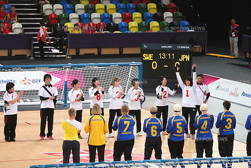 Japan team group (JPN), .SEPTEMBER 6, 2012 - Goalball : .Women's goalball Semi-Final match between Sweden 3-4 Japan of the London 2012 Paralympic Games at the Copper Box in Stratford, UK. (Photo by Akihiro Sugimoto/AFLO SPORT) [1081]