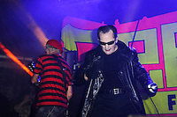 BLACKPOOL, ENGLAND - AUGUST 6: Captain Sensible and Dave Vanian of 'The Damned' performing at Rebellion Festival, Tower St Arena on August 6, 2016 in Blackpool, England.<br /> CAP/MAR<br /> &copy;MAR/Capital Pictures /MediaPunch ***NORTH AND SOUTH AMERICAS ONLY***