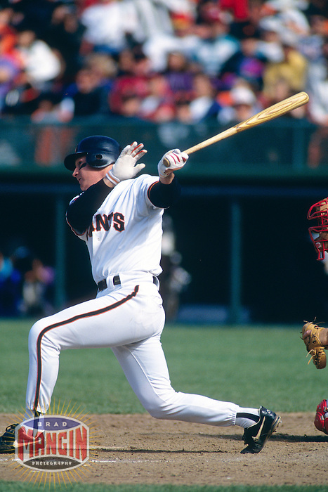 SAN FRANCISCO, CA - Matt Williams of the San Francisco Giants bats during a game at Candlestick Park in San Francisco, California in 1994.  Photo by Brad Mangin