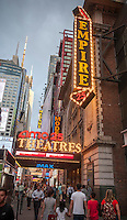The AMC 25 Theatre in Times Square in New York on Tuesday, September 6, 2016. This summer saw Hollywood release a record 14 sequels with only four doing better than the original. The first 118 days of summer, a Hollywood studio benchmark, was up 35 from last year. (© Richard B. Levine)