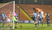 Blackpool's Kelvin Mellor scores his sides first goal <br /> <br /> Photographer Alex Dodd/CameraSport<br /> <br /> Checkatrade Trophy Round 3 Blackpool v Wycombe Wanderers - Tuesday 10th January 2017 - Bloomfield Road - Blackpool<br />  <br /> World Copyright &copy; 2017 CameraSport. All rights reserved. 43 Linden Ave. Countesthorpe. Leicester. England. LE8 5PG - Tel: +44 (0) 116 277 4147 - admin@camerasport.com - www.camerasport.com