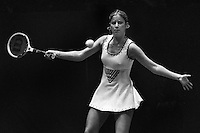 Chris Evert, during the Virginia Slims quarterfinals at the civic auditiorium in San Francisco, Ca 1976. (photo by Ron Riesterer)