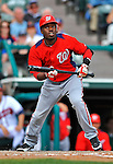 6 March 2012: Washington Nationals outfielder Eury Perez in action during a Spring Training game against the Atlanta Braves at Champion Park in Disney's Wide World of Sports Complex, Orlando, Florida. The Nationals defeated the Braves 5-2 in Grapefruit League action. Mandatory Credit: Ed Wolfstein Photo
