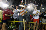 Photo by Britney McIntosh/ Staff- Students broke the world record for the largest water balloon fight on Friday night outside the Johnson Center.