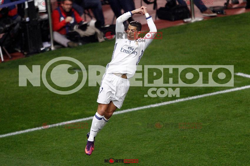 Real Madrid's Cristiano Ronaldo celebrates goal during La Liga match. November 19,2016. (ALTERPHOTOS/Acero) /NORTEPHOTO.COM