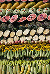 Fruit is displayed in rows for the Monkeys to Eat