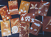 Results of both children and adults of their photogram workshop at the Silver Print Gallery, Ein