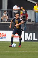 24 OCTOBER 2010:  Philadelphia Union defender Danny Califf (4) during MLS soccer game against the Philadelphia Union at Crew Stadium in Columbus, Ohio on August 28, 2010.