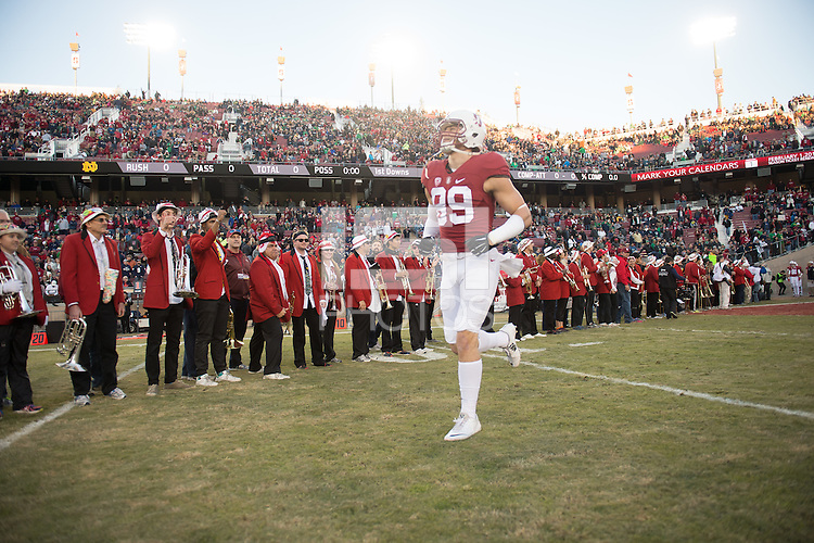 Stanford, Ca - Saturday, November 28, 2015: Stanford 38-36 over Notre Dame at Stanford Stadium.