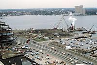 1983 February 10..Redevelopment.Downtown South (R-9)..TOWN POINT PARK.CONSTRUCTION PROGRESS...NEG#.NRHA#..