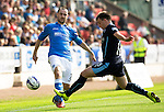 St Johnstone v Dundee...13.09.14  SPFL<br /> Dave Mackay and Paul McGowan<br /> Picture by Graeme Hart.<br /> Copyright Perthshire Picture Agency<br /> Tel: 01738 623350  Mobile: 07990 594431