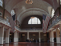 Vaulted ceilings of Ellis Island.