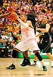 13 February 2011: University of Vermont Catamount forward Luke Apfeld, a Freshman from Wolfeboro, NH, in action against the Binghamton University Bearcats at Patrick Gymnasium in Burlington, Vermont. The Catamounts came from behind to defeat the Bearcats 60-51 in their America East matchup. The Cats took part in the National Pink Zone Breast Cancer Awareness Program by wearing special white jerseys with pink trim. The jerseys were auctioned off following the game with proceeds going to the Vermont Cancer Center. Mandatory Credit: Ed Wolfstein Photo