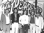 Bee Gees 1978 with Robert Stigwood and Dee Anthony for Sgt. Pepper movie