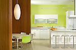Modern Chartreuse Kitchen