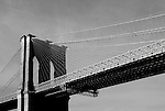 The Brooklyn Bridge, photographed from a water taxi..