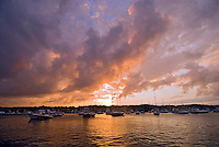 Massachusetts, Martha's Vineyard, Oak Bluffs, Sunset