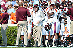 04 October 2014: Virginia Tech head coach Frank Beamer. The University of North Carolina Tar Heels hosted the Virginia Tech Hokies at Kenan Memorial Stadium in Chapel Hill, North Carolina in a 2014 NCAA Division I College Football game. Virginia Tech won the game 34-17.