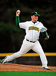 30 April 2009: University of Vermont Catamounts' right handed pitcher Ben Hart, a Freshman from Portsmouth, NH, on the mound against the Siena College Saints at Historic Centennial Field in Burlington, Vermont. The Saints outscored the Catamounts 11-10 in the afternoon matchup. The Catamounts are playing their last season of baseball, as the program has been marked for elimination due to budgetary constraints at the University. Mandatory Photo Credit: Ed Wolfstein Photo