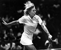 Tennis star Martina Navratilova <br />(Feb 26,1986 photo/Ron Riesterer)