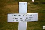 Grave Marker Of Dorothy Tazruk