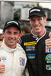 Polesitter Chris Dyson & Steven Kane celebrate an all Dyson front row at The Northeast Grand Prix