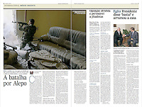 Tearsheet of &quot;Syria: The Battle for Aleppo&quot; published in Expresso
