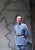 The Patriotic Traitor <br /> at Park Theatre, London, Great Britain <br /> press photocall <br /> 18th February 2016 <br /> <br /> <br /> Laurence Fox as Charles de Gaulle <br /> <br /> <br /> <br /> <br /> Photograph by Elliott Franks <br /> Image licensed to Elliott Franks Photography Services