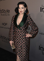 LOS ANGELES - OCTOBER 24:  Dita Von Teese at the 2nd Annual InStyle Awards at The Getty Center on October 24, 2016 in Los Angeles, California.Credit: mpi991/MediaPunch