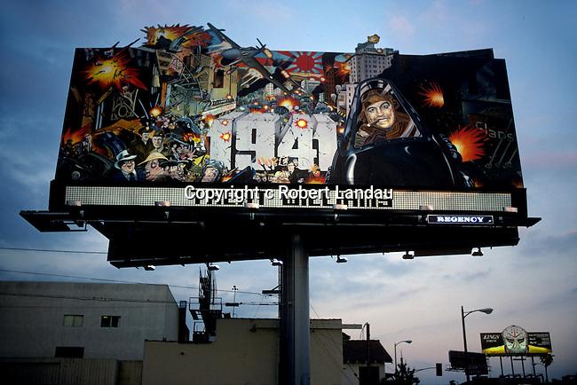 Sunset Strip billboard for movie 1941 by Steven Spielberg circa 1980