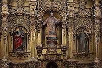 Main Altar (detail), 18th century, Iglesia de San Esteban (St Stephen's Church), 12th-13th centuries, Segovia, Castile and Leon, Spain. Late Romanesque sandstone church. Baroque interior rebuilt after fire, 18th century. Picture by Manuel Cohen