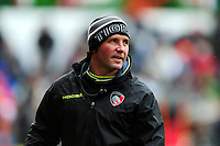 Leicester Tigers Head Coach Aaron Mauger looks on during the pre-match warm-up. Aviva Premiership match, between Leicester Tigers and Saracens on January 1, 2017 at Welford Road in Leicester, England. Photo by: Patrick Khachfe / JMP