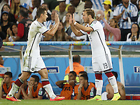 Mario Gotze of Germany is substituted for Miroslav Klose