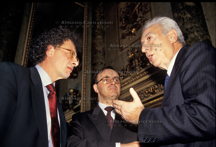 23 MAG 1994 Milano, GHERARDO COLOMBO, PIERCAMILLO DAVIGO, FRANCESCO COSSIGA