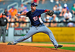 7 March 2009: Washington Nationals' pitcher Garrett Mock on the mound during a Spring Training game against the New York Mets at Tradition Field in Port St. Lucie, Florida. The Nationals defeated the Mets 7-5 in the Grapefruit League matchup. Mandatory Photo Credit: Ed Wolfstein Photo