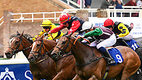 Winner of The Shadwell Stud Racing Excellence Apprentice Handicap (Div 1), Intimately white cap ridden by Pierre-Louis Jamin and trained by Jonathan Portman  during Afternoon Racing at Salisbury Racecourse on 18th May 2017