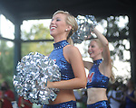 Rebelettes perform at an Ole Miss pep rally in the Grove in Oxford, Miss. on Thursday, September 1, 2011.
